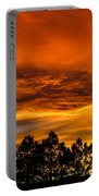 Mountain Wave Cloud Sunset With Pines Portable Battery Charger