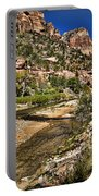 Mountains And Virgin River - Zion Portable Battery Charger