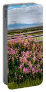 Mountains And Wildflowers Portable Battery Charger