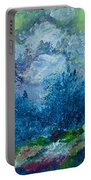 Mountains In Spring Portable Battery Charger