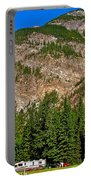 Mountains West Of Kicking Horse Campground In Yoho Np-bc Portable Battery Charger
