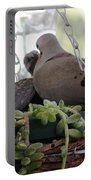 Mourning Dove Feeding Baby Dove Portable Battery Charger