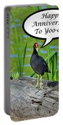 Mouthy Moorhen Anniversary Card Portable Battery Charger