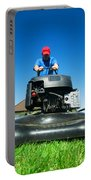 Mowing The Lawn Portable Battery Charger