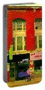 Mr Jordan Mediterranean Food Cafe Cabbagetown Restaurants Toronto Street Scene Paintings C Spandau Portable Battery Charger