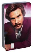 Mr. Ron Mr. Ron Burgundy From Anchorman Portable Battery Charger
