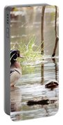 Mr. Wood Duck And Friends Portable Battery Charger