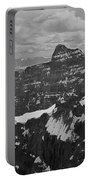 T-703512-bw-mt. Hungabee From Summit Of Mt. Lefroy-bw Portable Battery Charger