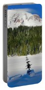 Mt Rainier And Three Trees Portable Battery Charger