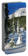 Mt Rainier At Reflection Lakes In Winter Portable Battery Charger