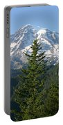 Mt. Rainier In Summer Portable Battery Charger