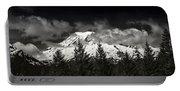 Mt Rainier Panorama B W Portable Battery Charger