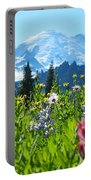 Mt. Rainier Wildflowers Portable Battery Charger