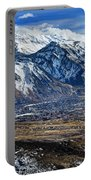 Mt. Timpanogos In Winter From Utah Valley Portable Battery Charger