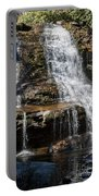 Muddy Creek Falls At Low Water At Swallow Falls State Park In Western Maryland Portable Battery Charger