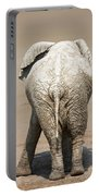 Muddy Elephant With Funny Stance  Portable Battery Charger
