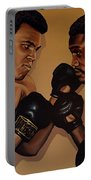 Muhammad Ali And Joe Frazier Portable Battery Charger by Paul Meijering