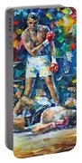 Muhammad Ali Portable Battery Charger by Leonid Afremov