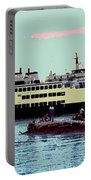 Mukilteo Clinton Ferry Panel 3 Of 3 Portable Battery Charger