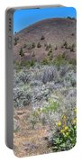 Mule's Ears And Schonchin Butte In Lava Beds Nmon-ca Portable Battery Charger