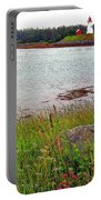 Mulholland Point Lighthouse On  Campobello Island-nb Portable Battery Charger