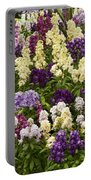 Multi-colored Blooms Portable Battery Charger