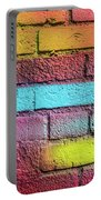 Multi-colored Brick Wall Portable Battery Charger