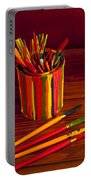 Multi Colored Paint Brushes Portable Battery Charger