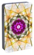Multi Flower Abstract Portable Battery Charger