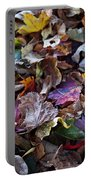 Multicolored Autumn Leaves Portable Battery Charger