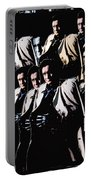 Multiple Johnny Cash's In Trench Coat 1 Collage Old Tucson Arizona 1971-2008 Portable Battery Charger