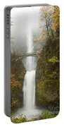 Multnomah Autumn Mist Portable Battery Charger by Mike  Dawson