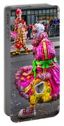 Mummer In A Pink Dress Portable Battery Charger