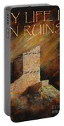 Mummy Cave Ruins II Greeting Card Portable Battery Charger