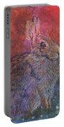 Munching On Clover Portable Battery Charger by Sari Sauls