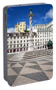 Municipal Square In Lisbon Portable Battery Charger