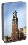 Munttoren In Amsterdam Portable Battery Charger