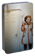 Mural Of Mccourts Mother Angela Portable Battery Charger