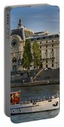 Musee D'orsay Along River Seine Portable Battery Charger