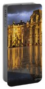 Musee Du Louvre Sunset Portable Battery Charger