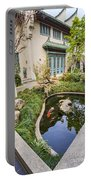 Museum Koi - Courtyard Of The Pacific Asia Museum In Pasadena. Portable Battery Charger