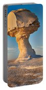 Mushroom Formation In White Desert  Portable Battery Charger