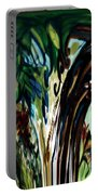 Music In Bird Of Tree Drip Painting Portable Battery Charger