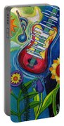 Music On Flowers Portable Battery Charger