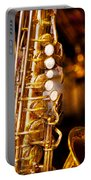 Music - Sax - Sweet Jazz  Portable Battery Charger by Mike Savad