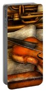 Music - Violin - Played It's Last Song  Portable Battery Charger by Mike Savad