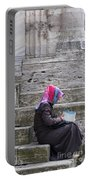 Muslim Woman At Mosque Portable Battery Charger