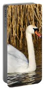 Mute Swan By Reed Beds Portable Battery Charger