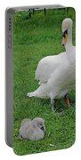 Mute Swan With Cygnets Portable Battery Charger