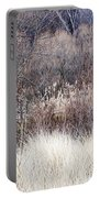 Muted Colors Of Winter Forest Portable Battery Charger